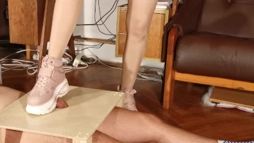 Cock torture slave with cute pink boots HD FULL