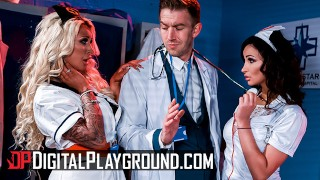 Digital Playground – Lesbian nurses Alyssia Kent, Brooklyn Blue