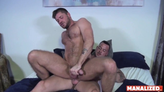 Gay asian hardcore rimjob Manalized inked hunk sean duran barebacks stud after rimjob