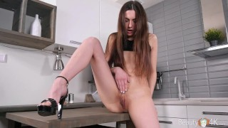 Beauty-Angels – Lika B – After-party masturbation on table