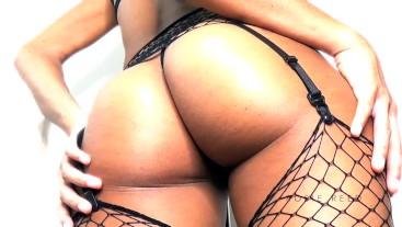 Goddess Rosie Reed Femdom POV Ass Worship Ebony Goddess Fishnet Ass