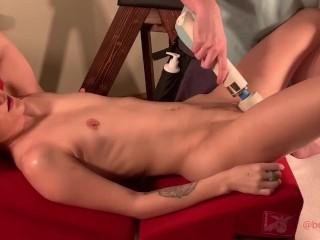 Goddess receives tantric yoni massage