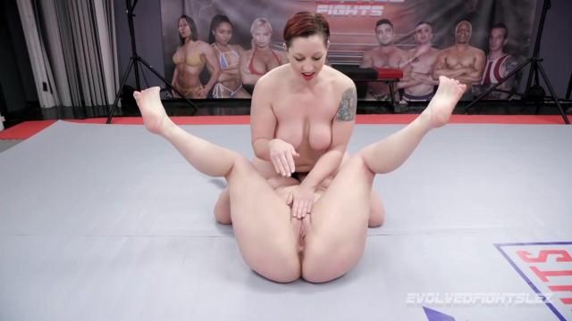 Lesbian wrestiling Mistress kara lesbian wrestling vs johnny starlight bangs her with strapon