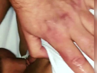 Find cheating wife cum-filled next day at hotel after she fucked coworker