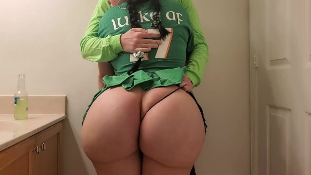 Ass sticker - Stepsister cheats on boyfriend with stepbrother at st patricks day party