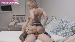 PORNBCN 4K Hot milf hardcore fucking compilation step mom anal squirt sex
