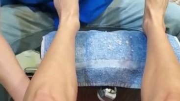 Pedicure, Upskirt, & Leg Massage At The Nail Salon