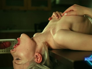 Sloppy upside down blowjob
