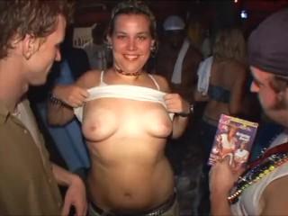 Spring Break Slut gets Finger Fucked at Foam Party