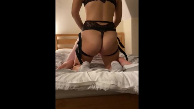 Men lingerie strap-on tailers free - International womens day celebration with rough pegging from big booty gf