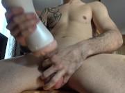 Thick Cock Fleshlight Masturbation