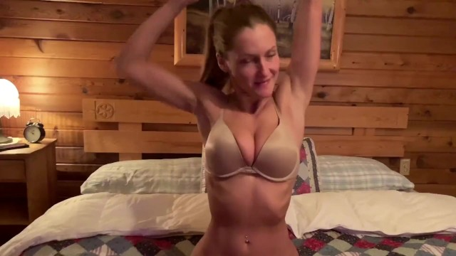 Ameature blowjobs - Hot sex in our airbnb cabin during our snowboarding trip