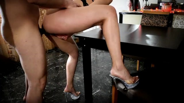 Greek service escort Greek escort girl fucked on the table