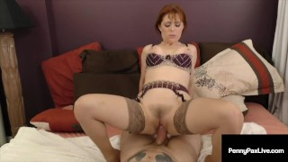 Ginger Bush Penny Pax Gets Her Pussy Pounded & Mouth Fucked!