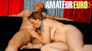 AMATEUREURO - One Night Stand Hookup With This Chubby Blonde Mature