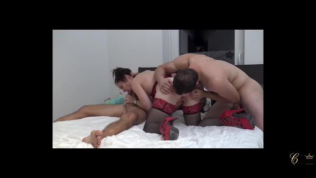 Slut bitches gang fucked by strange men Cathy crown, belgian french-speaking pornstar, bourgeois fucked by 2 strang