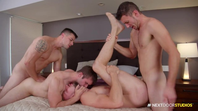 Naked gay snowboarders - Naked car wash ends in group sex foursome