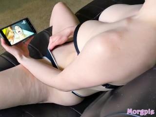 POV Very Busty Teen Cumming To Porn