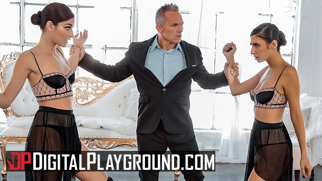 Digitalplayground adult Digital playground - two petite dancer share in threesome