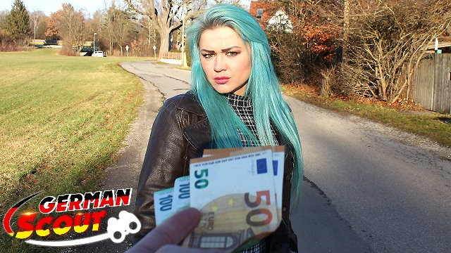 Greenbacks vs vintage - German scout - green hair teen talk to fuck at real pick up street casting