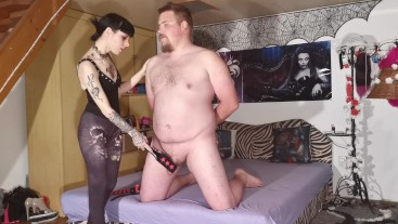 Slave get cock whipping & spanking CBT from his Mistress HD FULL