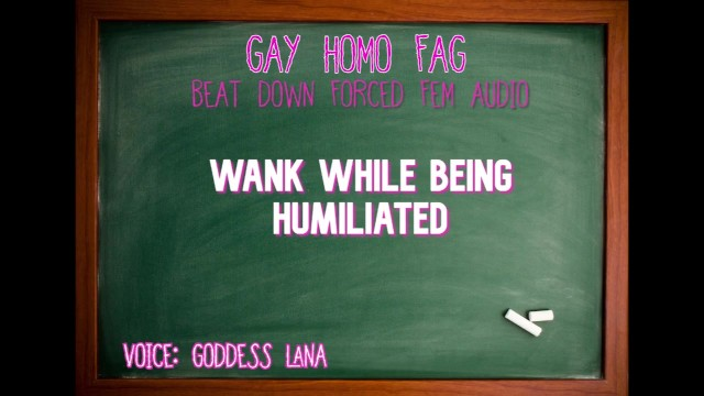 Asheville nc gay karaoke Wank while being humiliated gay homo fag audio