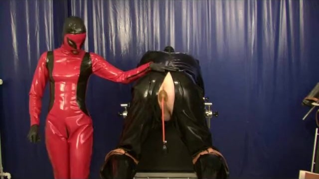 Breast cancer latest treatment Punishment the rubber slave anal treatment with plugs strap on latex femdom