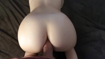Intense anal and creampie for tight PAWG - POV