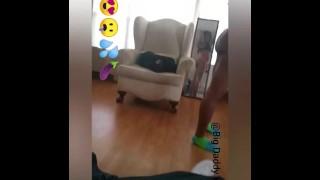 My freak bitch dancing for me