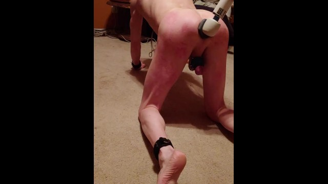 Hairless gay asians - Hairless bald owned fuck slave, gagged and plugged, locked in chastity