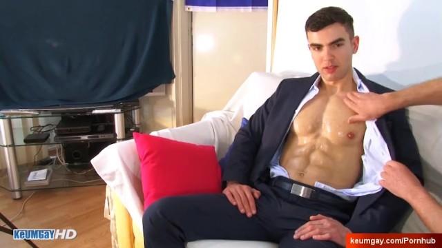 Gay insurance broker - Hot insurer gets wanked his huge dick in spite of him: alex
