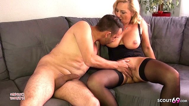 Bi female amateur dating German big natural tits mature at fuck date with younger boy