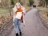 Cute German Girl Public Nude Walk !!! - LovlyLuna