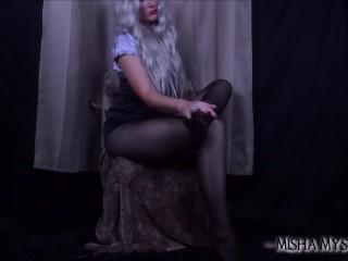 Legs/fetish in nylons pantyhose teasing