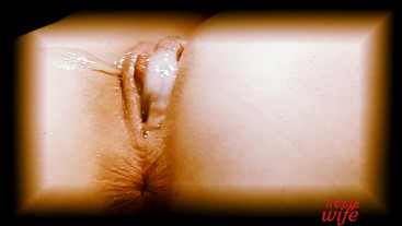 girl fuck in pussy and cum on her!