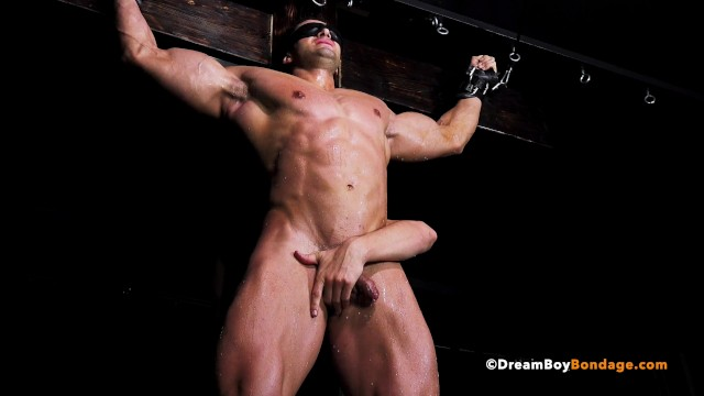Gay bdsm tube slave - Hot muscle stud crucified for hours in bdsm dungeon