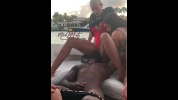 Getting my pussy ate on the yacht
