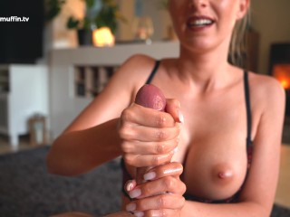 Slow handjob with ruined orgasm and cruel cum stopping with my thumb