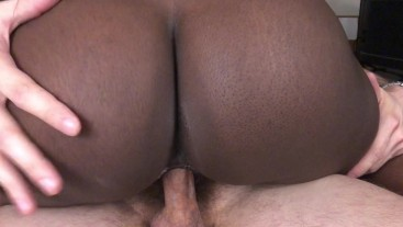 Black Teen Rides White Dick For Creampie