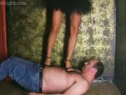 Girls Hardly Tramples Slave Under Heels