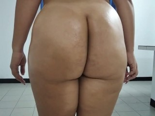 Clenching my oiled fat and big Ass – Real PAWG BBW