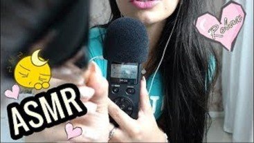 SFW ASMR Intense Microphone Brushing ♥ Sticky Tape ♥ Mouth Sounds! ♥