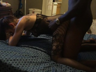 Ms Moon taking black dick hard, I love it when she cums on their cock