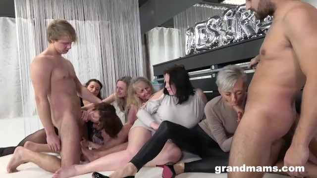 Cock trample videos - Insane granny orgy will make your cock hard af