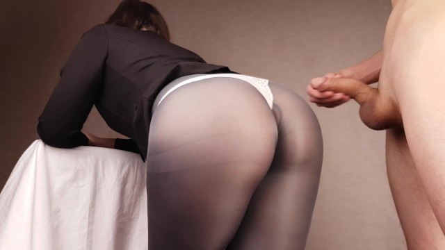 Cumy pantyhose Beautiful big ass, cum on pantyhose