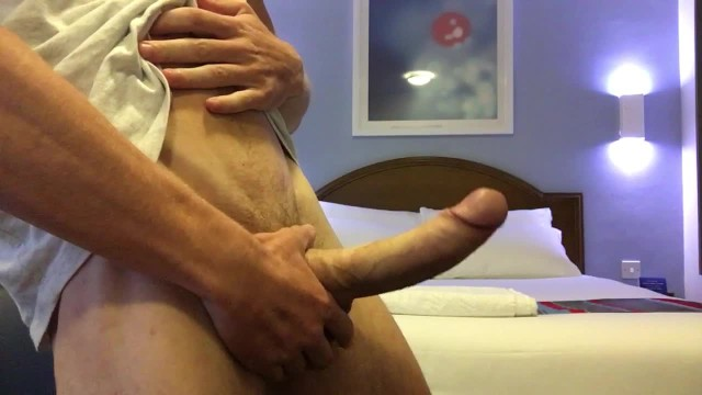 Gay shally lads Hung young british big dick lad wanks in hotel room