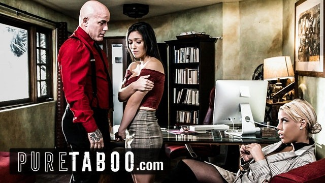 Vintage gray cel Pure taboo school principal uses teacher to lure teen into sex trap