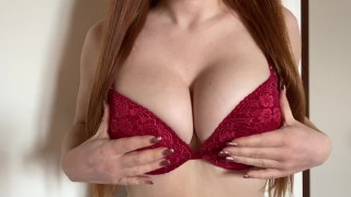Free Porn Site - Big Boobs Natural Redhead Big Natural Boobs Sexy Bra