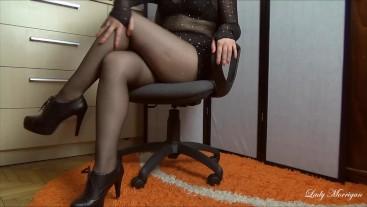 Worship My Legs in Black Pantyhose