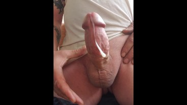 FPOV Truly Massive White Cock Drips Precum and a HUUUGE Messy Thick Load